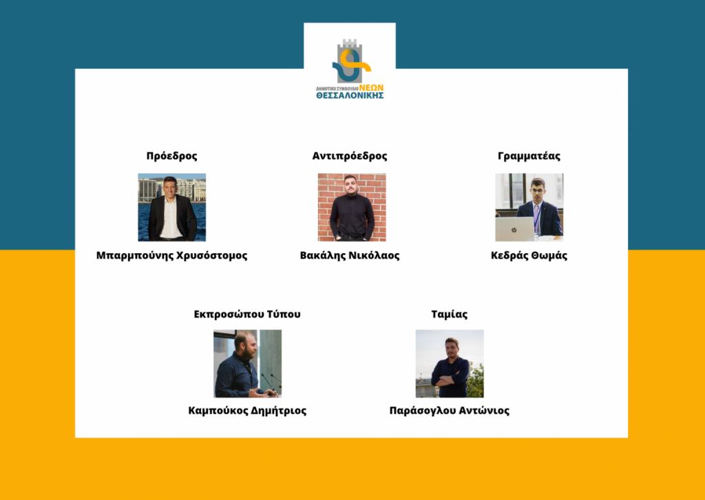 Εκλογή νέου Διοικητικού Συμβουλίου του Δημοτικού Συμβουλίου Νέων Θεσσαλονίκης